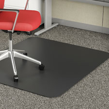 "Rectangular chairmat, low pile, 45""x53"", black, sold as 1 each"