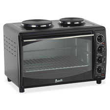 "Multifunction oven w/burner, 22-3/4""x15-3/4""x15-2/5"", bk, sold as 1 each"