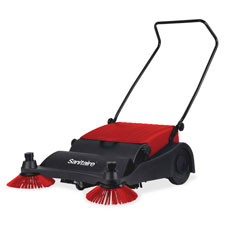 """Vacuum sweeper, 32"""" wide, 37""""x32""""x16"""", red/black, sold as 1 each"""