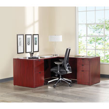 "Right pedestal desk, 66""x30""x29"", mahogany, sold as 1 each"