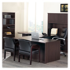 "Single ped bow desk, left, bbf, 72""x42""x29"", espresso, sold as 1 each"