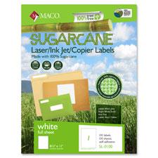 """Sugarcane labels, 1""""x2-5/8"""", 3000/bx, white, sold as 1 box, 2000 each per box"""