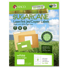 "Sugarcane name badges, 400 labels/bx, 2-1/3""x3-3/8"", we, sold as 1 box"