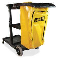 """Janitors cart, 20-1/2""""wx40""""lx38""""h, lt gray/yellow, sold as 1 each, 150 each per each"""