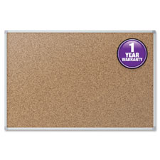 Cork board, 2'x1-1/2', oak frame, sold as 1 each