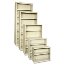 "Steel bookcase, 2-shlef, 34-1/2""x13""x30"", putty, sold as 1 each"