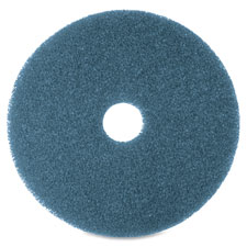 """Floor cleaning pads, 12"""", 5/bx, blue, sold as 1 box"""