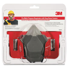 Multi-purpose respirator mask, drop-down, filtration, gray, sold as 1 each