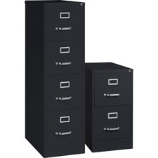 "4-drawer vertical file, w/ lock, 15""x25""x52"", black, sold as 1 each, 2 pair per each"