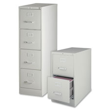 "4-drawer vertical file, w/ lock, 15""x25""x52"", light gray, sold as 1 each"
