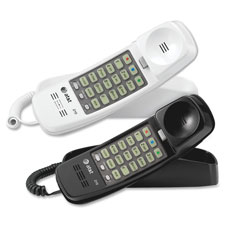 Corded trimline phone,lighted keypad, black, sold as 1 each