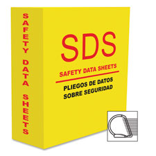 "D-ring sds-2 4.0"" binder, yellow, sold as 1 each"