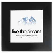 "Motivational poster, dream, 20""x20"", black, sold as 1 each"