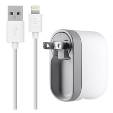 Ac charger w/swivel, ipod universal, white, sold as 1 each
