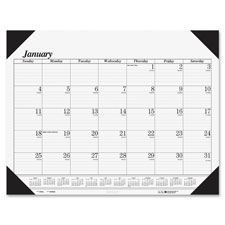 "Economy desk pad, 12mth jan-dec, 22""x17"", bk/we, sold as 1 each"