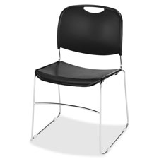"Wire frame stack chair, 19-3/8""x19-3/4""x30"", 4/ct, black, sold as 1 carton"