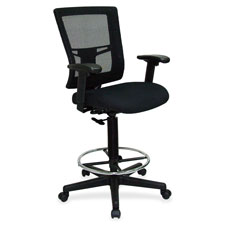 "Drafting stool chair, 27""x25""x48"", black, sold as 1 each, 4 each per each"