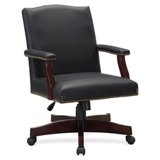 """Traditional executive chair, 27-1/4""""x32-1/2""""x42-3/4"""", bk, sold as 1 each"""