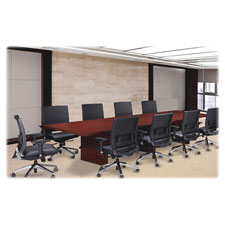 "4' starter conference table top, 48""x48""x2"", mahogany, sold as 1 each"