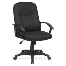 """Executive mid-back chair, 26-1/4""""x27-1/2""""x38-1/2"""", bk, sold as 1 each"""