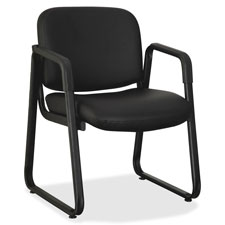 "Guest chair, 24-3/4""x26""x33-1/2"", leather/black, sold as 1 each"
