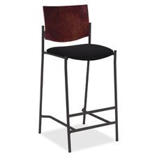"""Wood back barstool, steel frame,19""""x22""""x45"""", espresso, sold as 1 each, 2 each per each"""