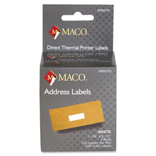 Thermal printer labels,shipping,220 lbls, 1rl/bx, white, sold as 1 roll, 2 roll per roll