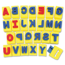 Paint handle sponges, alphabet, 26 pieces, assorted, sold as 1 set