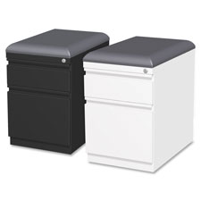 "Mobile seat pedestal file, 15""x19-7/8""x23-3/4"", white, sold as 1 each"