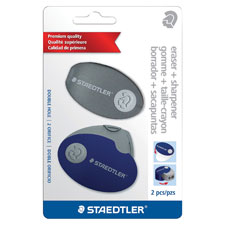 Case eraser, oval/vinyl, 2/pk, ast case/we eraser, sold as 1 each, 3 each per each