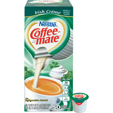 Liquid coffee creamer, 50/bx, irish creme, sold as 1 box, 50 each per box