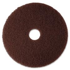 "Floor stripper pad, 7100, 20"", brown, sold as 1 carton, 5 each per carton"
