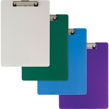 "Plastic clipboard, 9""x1/2""x12-1/2"", green, sold as 1 each"