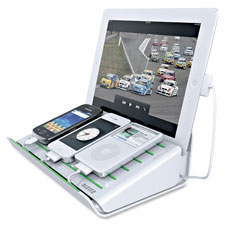 Multi charging station, usb devices, white, sold as 1 each