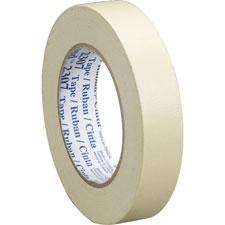 Masking tape roll, 36mmx55m, 36rl/ct, tan, sold as 1 carton, 36 roll per carton