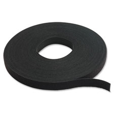 "One wrap tie rolls, 3/4""x75', 20/rl, black, sold as 1 roll"