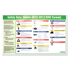 "Safety data sheet poster, english, 20""x32"", multi, sold as 1 each"