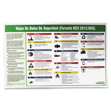 "Safety data sheet poster, spanish, 20""x32"", multi, sold as 1 each"