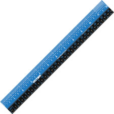 "Easy read plastic ruler, 12"", blue/black, sold as 1 each"