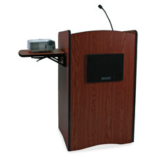 "Computer lectern, multimedia, wireless, 44""x25.5""x44"", ast, sold as 1 each"