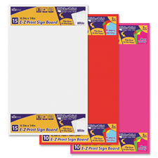 "Sign board, e-z print primary color, 8.5""x14"", 10/pk, ast, sold as 1 package, 100 each per package"