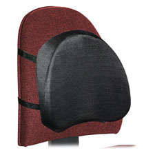 "Polyurethane foam backrest, 15-1/4""x3-1/2""x12"", black, sold as 1 each"