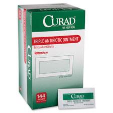 Antobiotic ointment, curad, 144/bx, white/green, sold as 1 box, 100 each per box