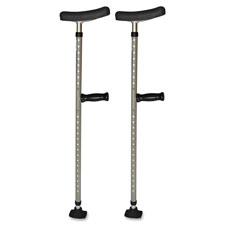 Universal single tube crutch, 2ea/pr, gray, sold as 1 pair
