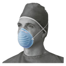 Surgical cone style face mask, 50/bx, blue, sold as 1 box, 50 each per box