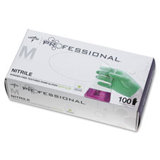 Nitrile professional aloetouch gloves, large, 100/bx, gn, sold as 1 box, 100 each per box