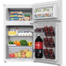 2-door refrigerator, 3.1cf, 2.2cf fridge, .9cf freezer, we, sold as 1 each