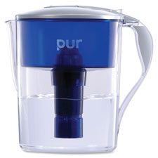 "40 gal pitcher, pur led, 11.25""x10.63""x6.75"", blue/gray, sold as 1 each"