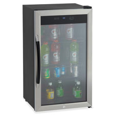 Avanti, beverage cooler, 3.1cf, glass door, bk/sr, sold as 1 each