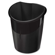 "Isis recycled waste bin, 1'x8.5""x1.3', black, sold as 1 each"